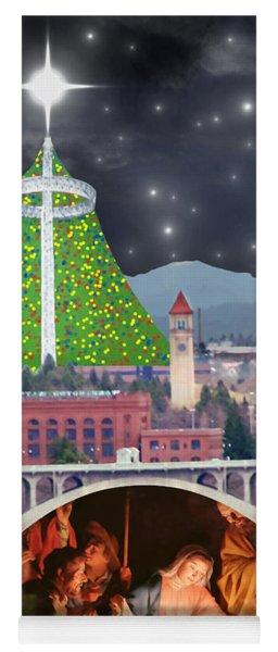 Christmas In Spokane Yoga Mat