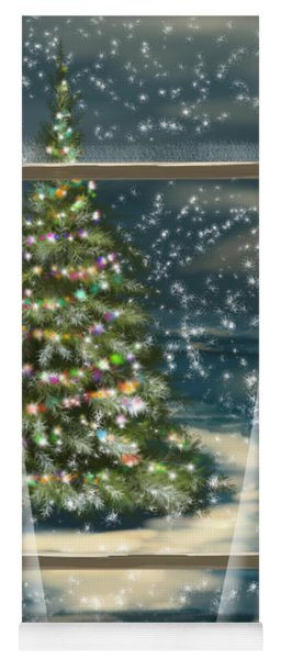 Christmas Night Yoga Mat