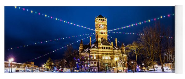 Yoga Mat featuring the photograph Christmas On The Square by Michael Arend