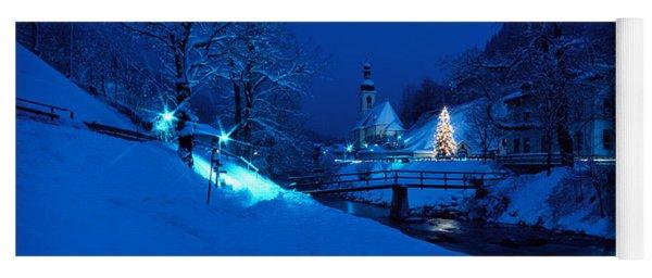 Christmas Ramsau Germany Yoga Mat