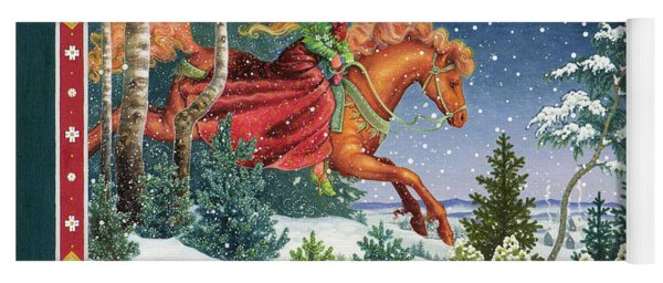 Christmas Ride Yoga Mat