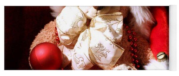 Christmas Teddy Yoga Mat