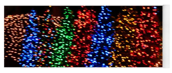 Christmas Trees Dancing In The Night Yoga Mat