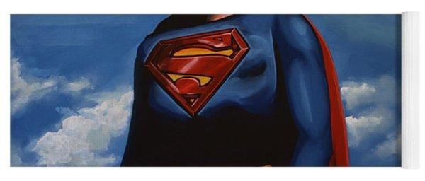 Christopher Reeve As Superman Yoga Mat