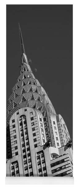 Chrysler Building Bw Yoga Mat