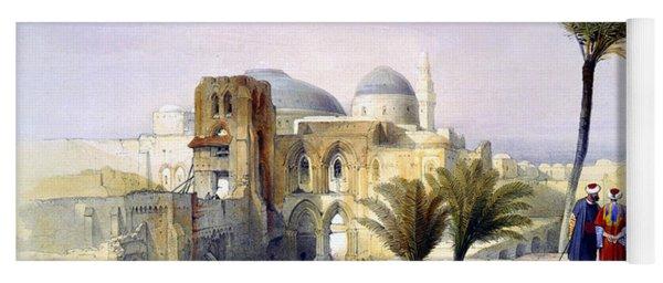 Church Of The Holy Sepulchre In Jerusalem Yoga Mat