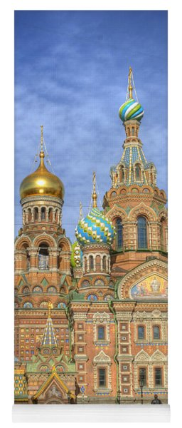 Church Of The Saviour On Spilled Blood. St. Petersburg. Russia Yoga Mat