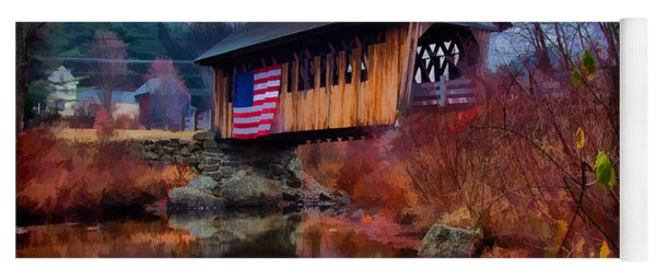 Cilleyville Covered Bridge Yoga Mat