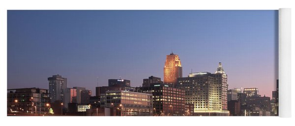 Cincinnati In Morning Twilight Yoga Mat