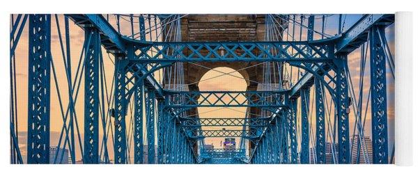 Cincinnati Suspension Bridge Yoga Mat
