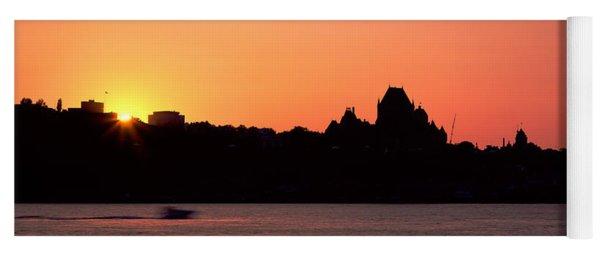 City At Sunset, Chateau Frontenac Yoga Mat