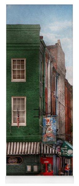 City - Baltimore - Fells Point Md - Bertha's And The Greene Turtle  Yoga Mat
