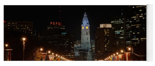 City Hall At Night Yoga Mat