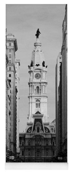 City Hall B/w Yoga Mat