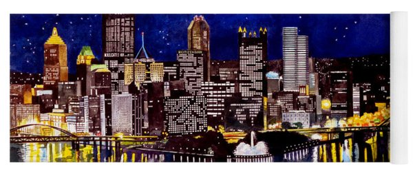 City Of Pittsburgh At The Point Yoga Mat