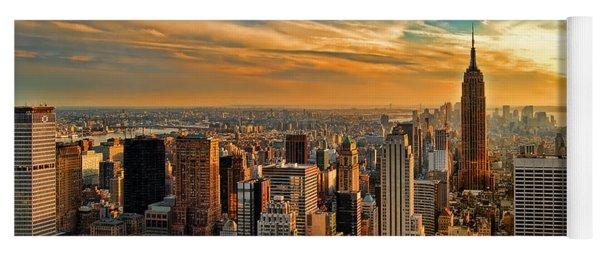 City Sunset New York City Usa Yoga Mat
