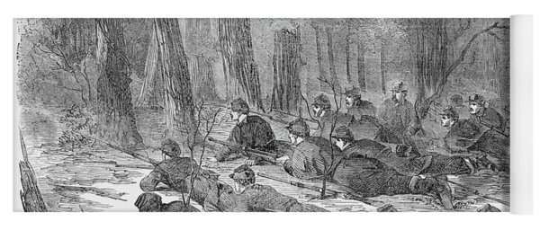 Civil War Union Army, 1862 Yoga Mat