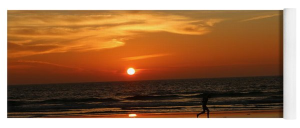 Clam Digging At Sunset - 3 Yoga Mat