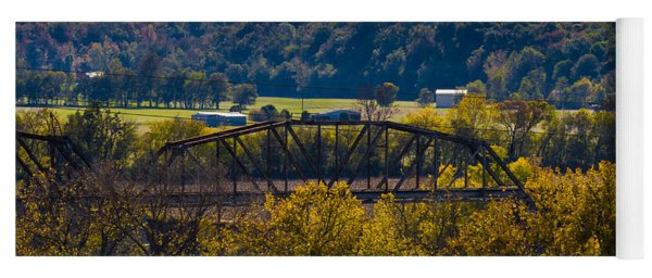 Clarksville Railroad Bridge Yoga Mat
