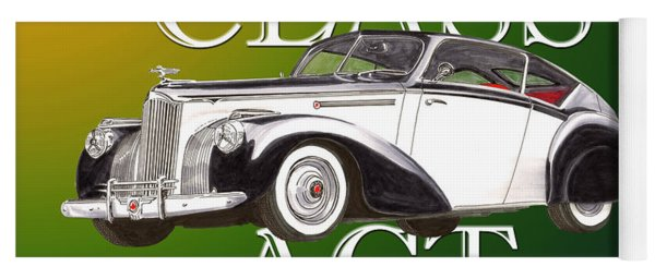 Class Act 1941 Packard Custom Coupe Yoga Mat