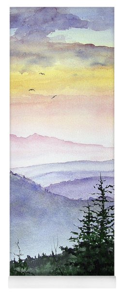 Clear Mountain Morning II Yoga Mat