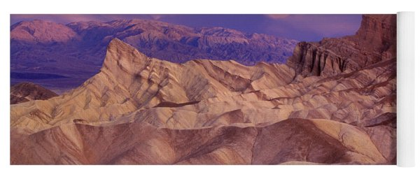 Yoga Mat featuring the photograph Clearing Sunrise Storm Zabriske Point Death Valley National Park California by Dave Welling