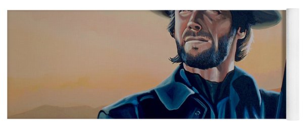 Clint Eastwood Painting Yoga Mat