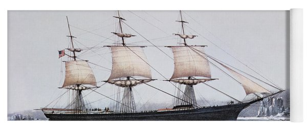 Clipper Ship Red Jacket In The Ice Off Cape Horn On Her Passage From Australia To Liverpool Yoga Mat