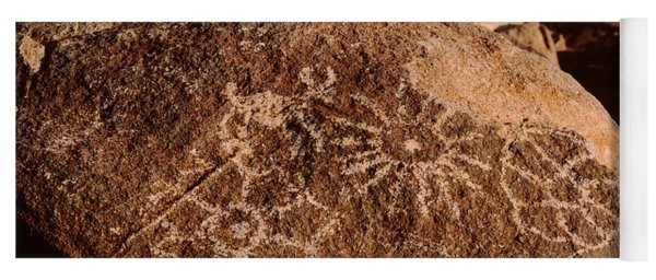 Close-up Of Petroglyphs On A Rock Yoga Mat