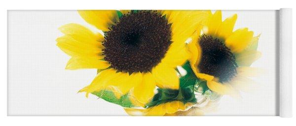 Close Up Of Sunflower Head Yoga Mat