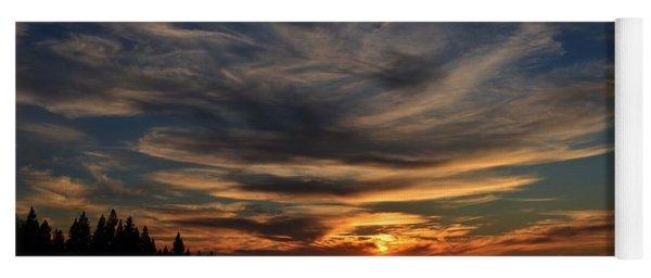 Cloud Swirl Sunset Yoga Mat