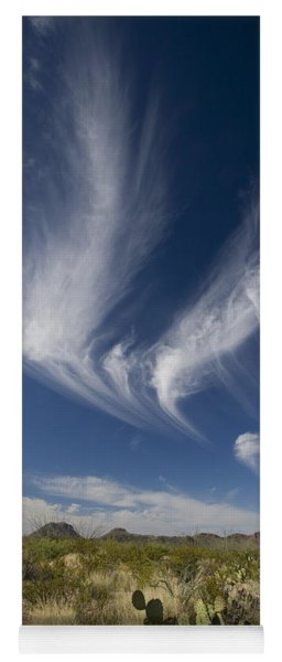 Clouds Above Chihuahuan Desert, Big Yoga Mat