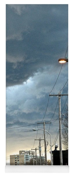 Clouds Over Philadelphia Yoga Mat