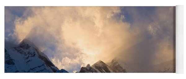 Clouds Over Snowcapped Mountain Yoga Mat