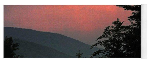 Clucks West Ossipee Mountain Sundown Yoga Mat