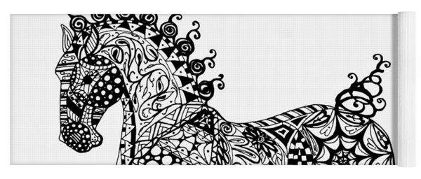 Clydesdale Foal - Zentangle Yoga Mat