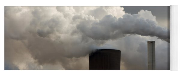 Coal Power Station Blasting Away Yoga Mat