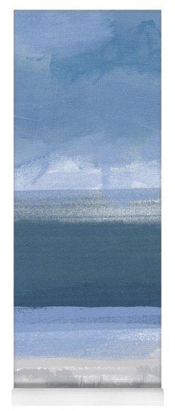 Coastal- Abstract Landscape Painting Yoga Mat
