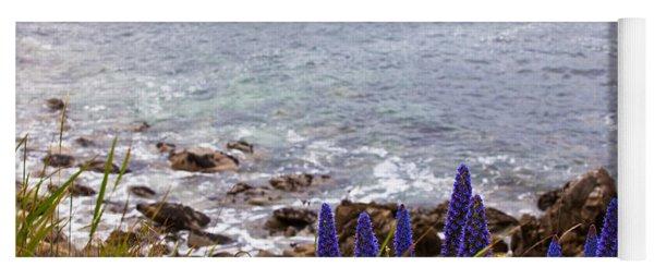Coastal Cliff Flowers Yoga Mat