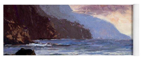 Coastal Cliffs Beckoning Yoga Mat