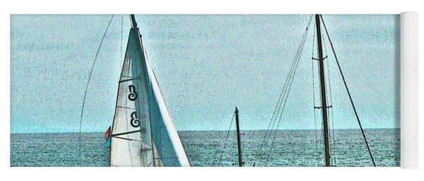 Coastal Sail Boats Yoga Mat