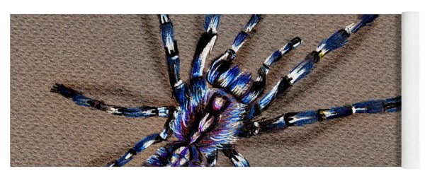 Cobalt Blue Tarantula Yoga Mat
