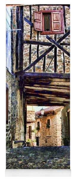Cobble Streets Of Potes Spain By Diana Sainz Yoga Mat