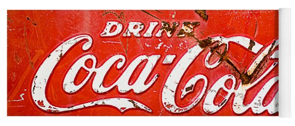 Coca-cola Sign Yoga Mat