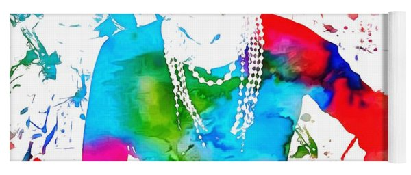 Coco Chanel Paint Splatter Yoga Mat