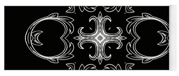 Coffee Flowers 3 Bw Ornate Medallion Yoga Mat