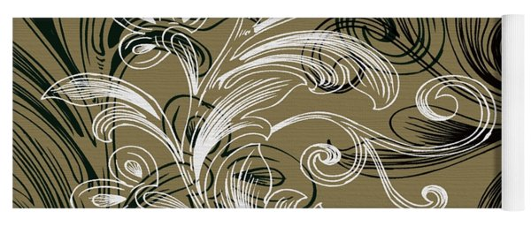 Coffee Flowers 4 Olive Yoga Mat