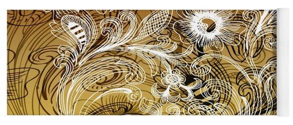 Coffee Flowers 6 Calypso Yoga Mat