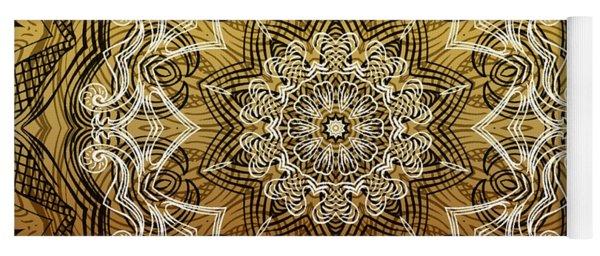 Coffee Flowers 6 Calypso Ornate Medallion Yoga Mat