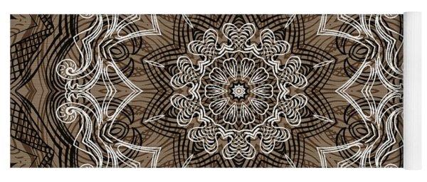 Coffee Flowers 6 Ornate Medallion Yoga Mat